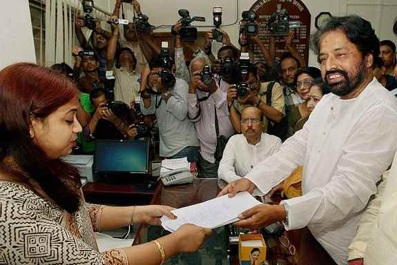 TMC Candidate Sudip Bandopadhyay files his nomination papers for Lok Sabha elections in Kolkata.