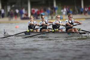 The Womens Four of New Zealand in the Women's Four final event of the World Rowing Championships in Amsterdam, Netherlands.