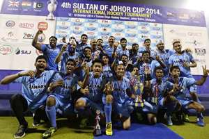 The junior hockey boys with the sultan of johor trophy they won beating great Britain in the final 2-1.