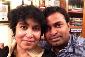Taslima Nasreen posted a picture with her boyfriend on Twitter and it said, ''My boyfriend is 20 years younger than me. It's cool.''