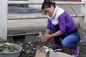 "Boxer MC Mary Kom at a cleanliness drive as part of ""Swachh Bharat Abhiyan"" in Imphal."