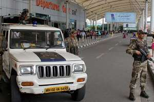 Tight security at Mumbai domestic airport in the wake of an email received which warned that suicide bombers would try to target a flight of the country's national carrier Air India.