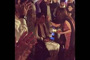 Bilawal Bhutto attending Diwali celebrations.