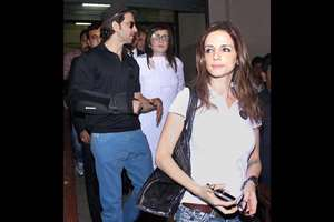 Hrithik Roshan and Sussane Khan leave the Bandra family court after being granted divorce in Mumbai.