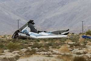 Wreckage lies near the site where a Virgin Galactic space tourism rocket, SpaceShipTwo, exploded and crashed in Mojave, California. The explosion killed a pilot aboard and seriously injured another while scattering wreckage in Southern California's Mojave Desert.