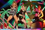 Fergie performs at the 42nd annual American Music Awards at Nokia Theatre L.A. Live, in Los Angeles.