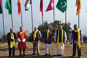 Prime Minister, Narendra Modi along with the SAARC leaders, during the 18th SAARC Summit, in Dhulikhel, Nepal.