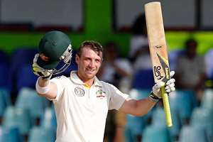 FILE - In this Sept. 19, 2011 file photo Australia's batsman Phillip Hughes celebrates after scoring a century during the fourth days' play of the third cricket test match between Australia and Sri Lanka in Colombo, Sri Lanka. Hughes died in a Sydney hospital on Thursday, Nov. 27, 2014, two days after being struck in the head by a cricket ball during a domestic first-class match. He was 25.
