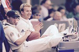 Cricketers Brett Lee and Phil Hughes, tweeted by Lee after the latter's demise.