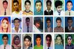 Combo image shows some of the students of the Army Public School who were killed on Tuesday December 16, 2014 when Taliban militants stormed their school in Peshawar, Pakistan.