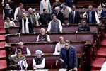 Congress members in the Rajya Sabha in New Delhi.