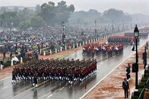 For the first time in the history of India's Republic Day, women empowerment in the armed forces was showcased as an all-women contingent from the three forces- Army, Air Force and Navy- marched down the majestic Rajpath, in New Delhi.