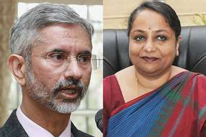 File combo: From left, Indian Ambassador to US S. Jaishankar appointed as Foreign Secretary, replacing Sujatha Singh whose tenure has been abruptly 'curtailed by nearly eight months.