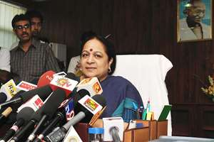 File: Jayanthi Natarajan, former Environment Minister, has quit the Congress with a scathing attack on vice-president Rahul Gandhi, alleging that specific requests by him were the basis of whether industrial projects were given clearances by her ministry, and that he shifted from a pro-environmental position to corporate-friendly stand for the elections last year.