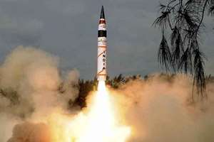 India successfully test-fired its indigenously developed, intercontinental surface-to-surface nuclear capable ballistic missile 'Agni-5', which has a strike range of over 5000 kms and can carry a nuclear warhead of over one tonne, from Wheeler's Island off Odisha coast.
