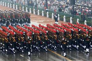 Guards marching contingent jointly won award for the best marching contingent among the two services in Republic Day Parade-2015..