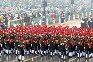 Sikh marching contingent jointly won award for the best marching contingent among the two services in Republic Day Parade-2015.