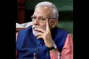 Prime Minister Narendra Modi in the Lok Sabha, in New Delhi.