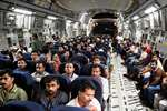 190 among the 349 Indian nationals who were stranded in Yemen, in the Indian Air Force C17 (Globemaster) aircraft after being evacuated from Djibouti, at the International Airport in Mumbai.