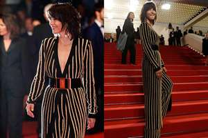 Actress and jury member Sophie Marceau poses for photographers as she arrives for the screening of the film Nie Yinniang (The Assassin) at the 68th international film festival, Cannes, southern France.