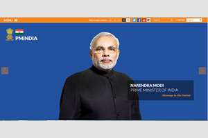 The Website of Prime Minister's Office gets a new look. Narendra Modi shared the new website on Facebook and Twitter, in New Delhi.