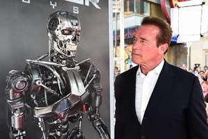 Arnold Schwarzenegger arrives at the LA Premiere of Terminator Genisys at Dolby Theatre in Los Angeles, USA.