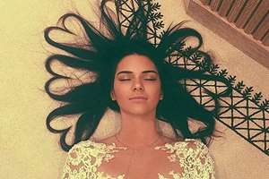 Kendall Jenner's selfie, the most liked pic in the history of Instagram with 2.6 milion likes.