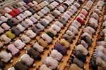 Muslims offer prayers during Ramzan at the Vasi Ullah mosque, in Allahabad.