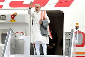 Prime Minister, Narendra Modi leaves for his visit to Central Asia and Russia.