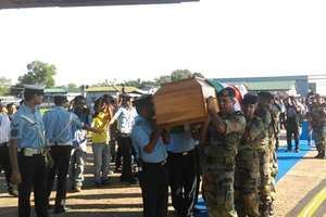 Mortal remains of Dr APJ Abdul Kalam being brought from Guwahati to Delhi by a C-130J Super Hercules aircraft of IAF
