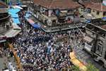 Muslim crowd gathered for Yakub Memon funeral at Mumbai.