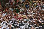 People carry the body of Yakub Abdul Razak Memon, outside his family residence during his funeral in Mumbai.