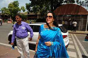 BJP MP and actress Hema Malini during the monsoon session of the Parliament, in New Delhi.