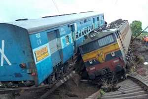 Twenty-nine people were killed as two express trains derailed within minutes of each other on flooded tracks while crossing a railway bridge in Harda district of Madhya Pradesh in the dead of night and plunged into the swollen Machak river.