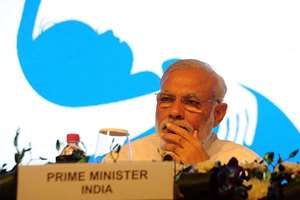 Prime Minister, Narendra Modi at the Global Call to Action Summit 2015, in New Delhi.