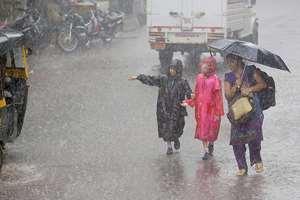 Heavy rains in Mumbai.