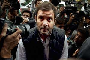 Congress Vice President Rahul Gandhi arrives for the first day of winter session of  Parliament in New Delhi.