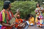 Baul artists perform during Sufi Sutra Festival at Mohor Kunja in Kolkata.