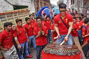 Chinese people in  Kolkata celebrate their New Year.