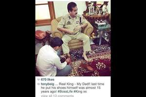J&K DIG's Son Posts Pics Bragging About the Perks of Power